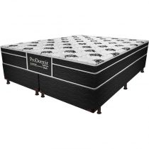 Cama Box Queen Dark - Probel - Branco / Preto