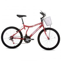 Bicicleta Aro 24 com Selim Full Bike RVS Bristol Peak-Houston - Vermelho
