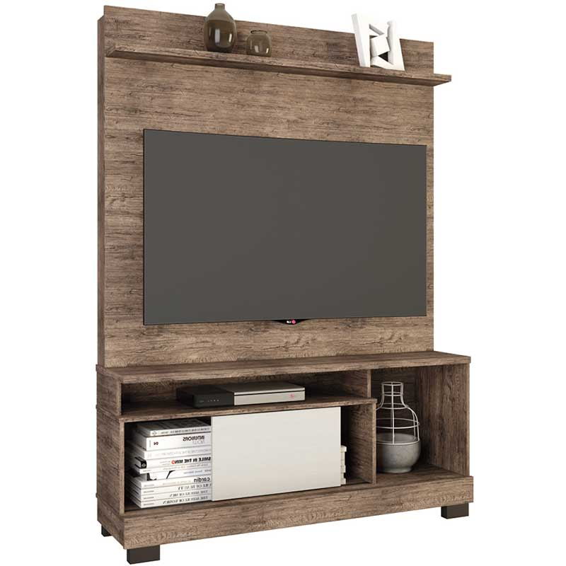 Estante Home Theater Hércules - Linea Brasil Naturale/fendi wood