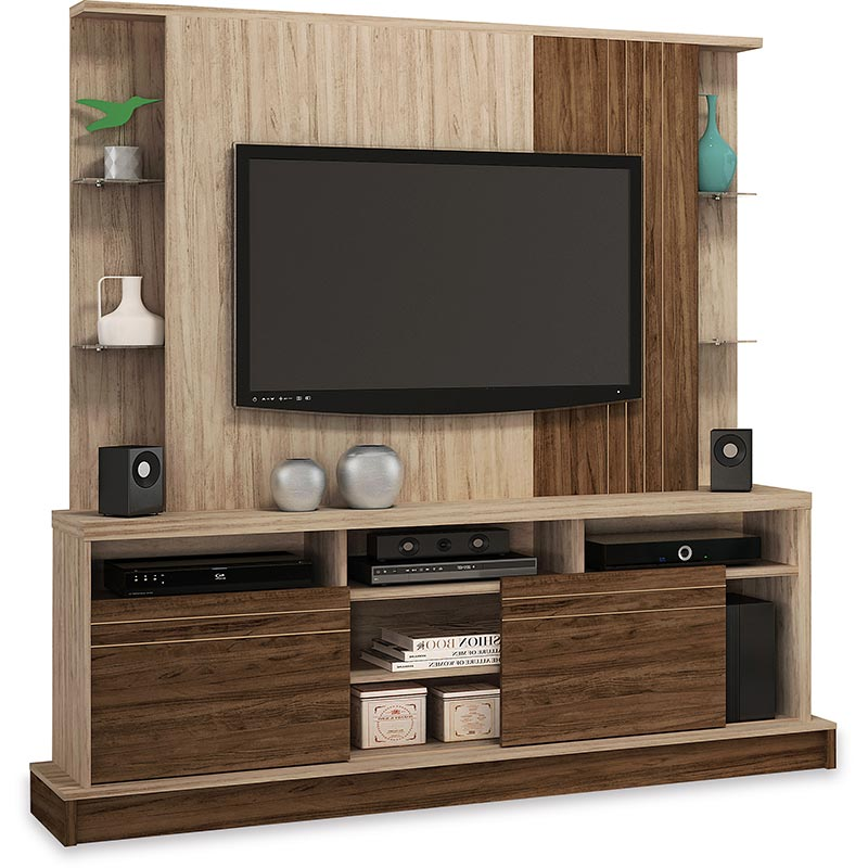 Estante Home Theater Hibisco - Colibri Teca/nogal