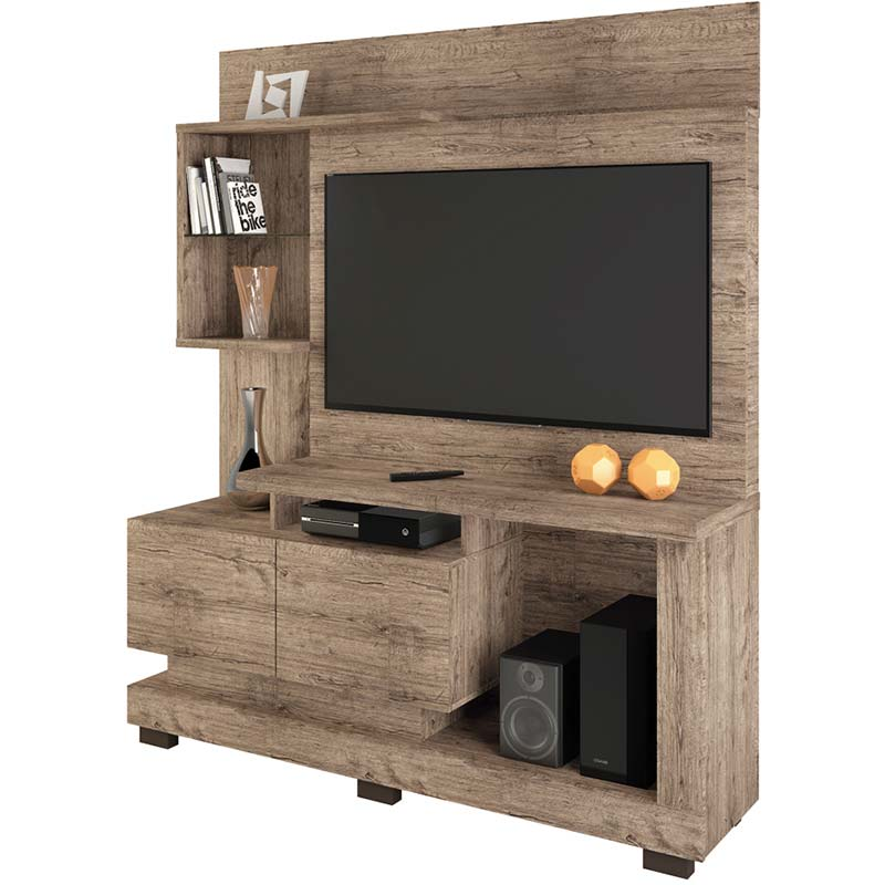 Estante Home Theater Turin - Linea Brasil Naturale