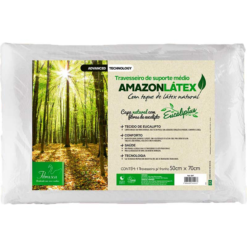 Travesseiro Amazon Látex - Fibrasca Bege