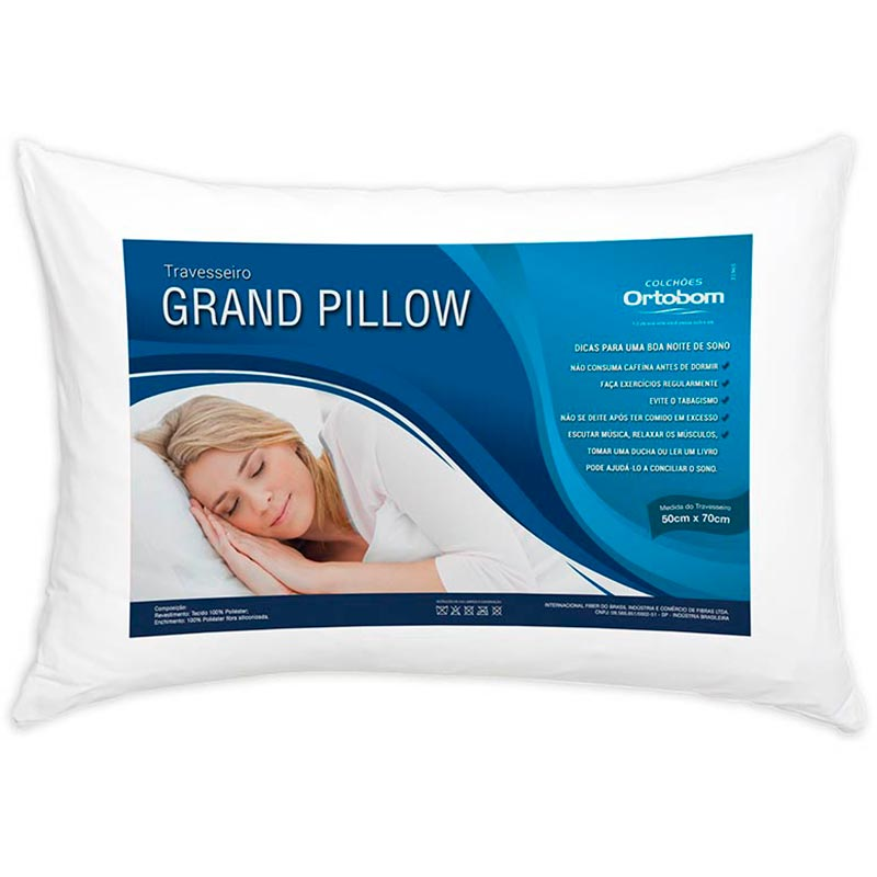 Travesseiro Grand Pillow - Ortobom Branco